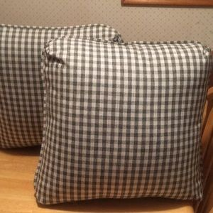 2 Charcoal, Light Gray and Cream Decorative Pillow